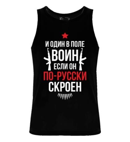 Мужская майка Воин по-русски скроен
