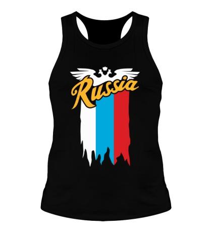 Мужская борцовка Russia каллиграфия флаг