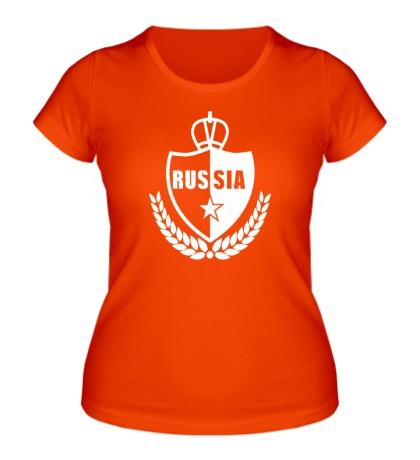 Женская футболка Russia Fans