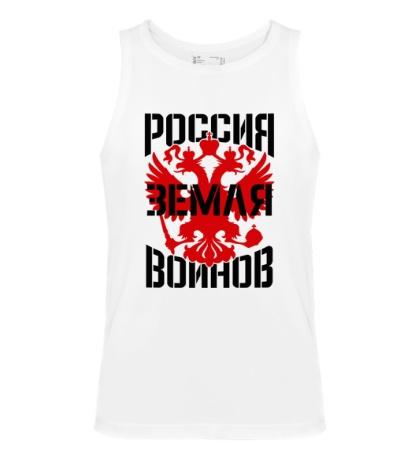 Мужская майка Россия земля воинов