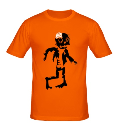Мужская футболка Неуклюжий зомби