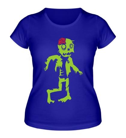 Женская футболка Неуклюжий зомби