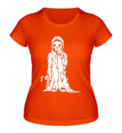 Женская футболка Смерть с игрушкой