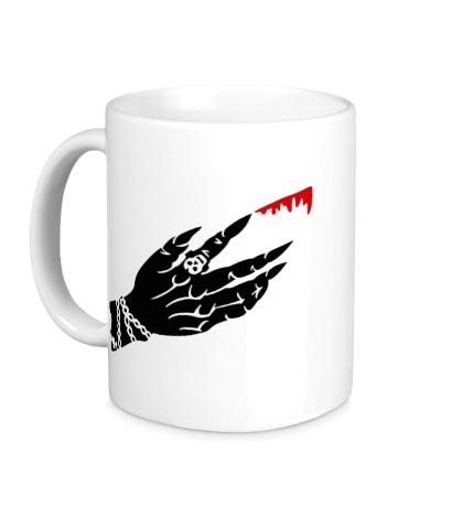 Керамическая кружка Рука вампира