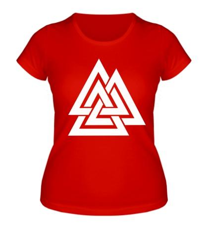 Женская футболка Валькнут: Трикветра