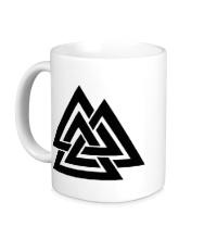 Керамическая кружка Валькнут: Трикветра