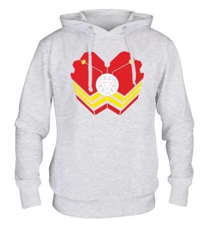 Толстовка с капюшоном Iron Man: Armor Reactor