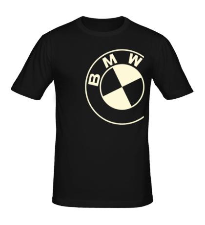 Мужская футболка БМВ значок свет