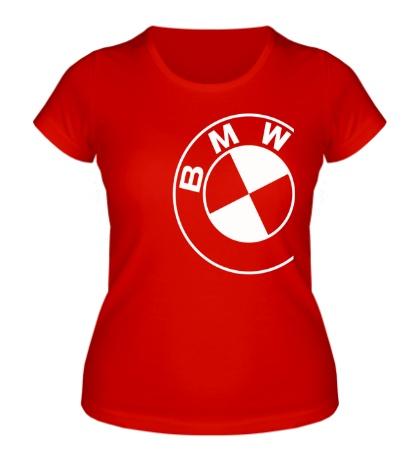 Женская футболка Значок БМВ