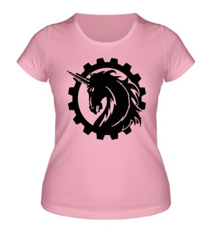 Женская футболка Стальной единорог
