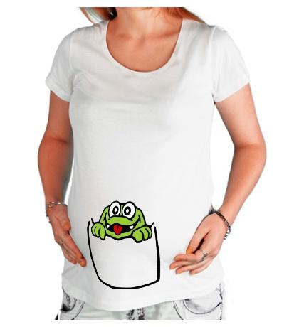 Футболка для беременной Карманный крокодил