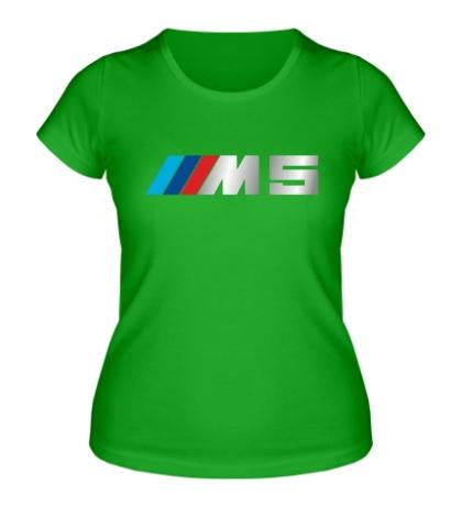 Женская футболка BMW M5 Driving
