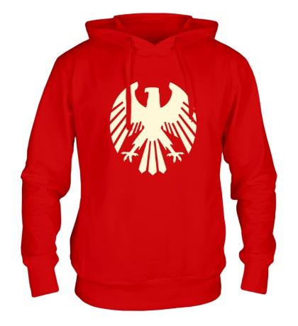 Толстовка с капюшоном Немецкий орел, свет