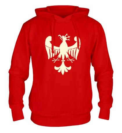 Толстовка с капюшоном Средневековый орел, свет