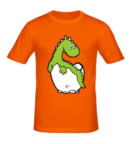 Мужская футболка Дино в яйце