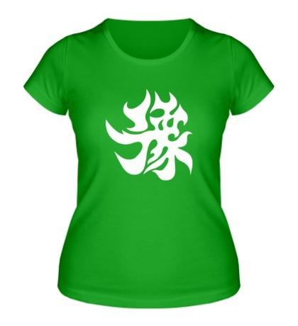 Женская футболка Счастье: японский иероглиф