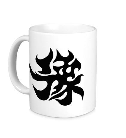 Керамическая кружка Счастье: японский иероглиф