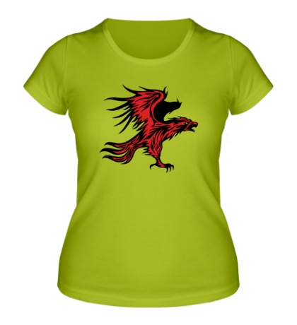 Женская футболка Огненный орел
