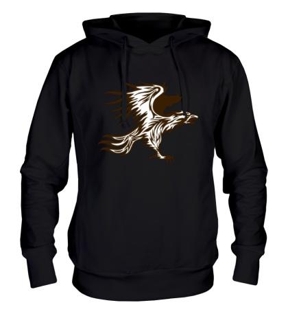 Толстовка с капюшоном Огненный орел