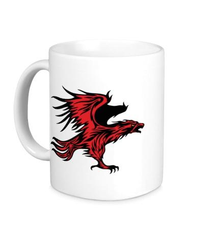 Керамическая кружка Огненный орел