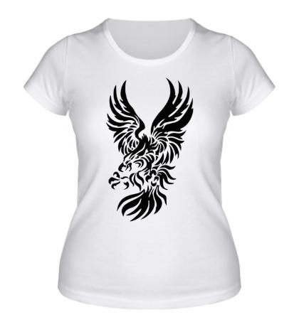 Женская футболка Орел в броске