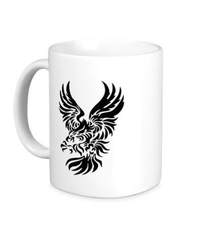 Керамическая кружка Орел в броске