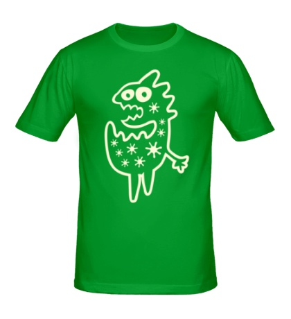 Мужская футболка Дино чудик, свет