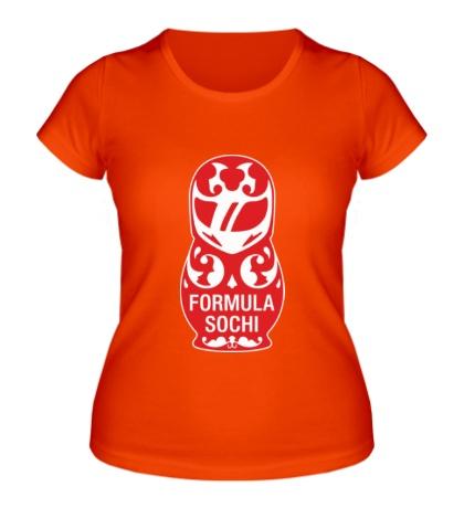 Женская футболка Matryoshka F1: Sochi