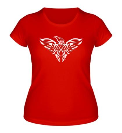 Женская футболка Тату силуэт орла