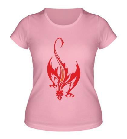 Женская футболка Пылающий дракон
