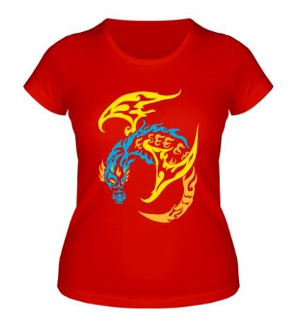 Женская футболка Пламенный дракон