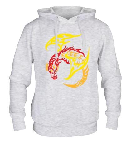Толстовка с капюшоном Пламенный дракон