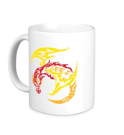 Керамическая кружка Пламенный дракон
