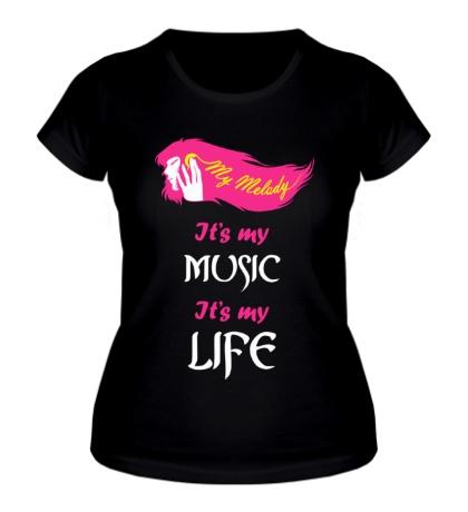 Женская футболка My melody, my music