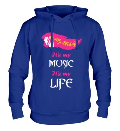 Толстовка с капюшоном My melody, my music
