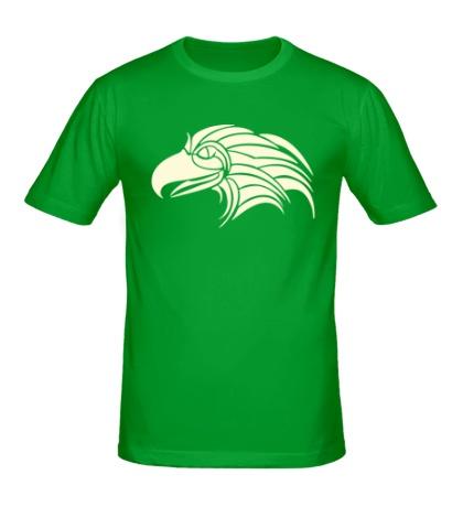 Мужская футболка Голова орла в тату стиле свет