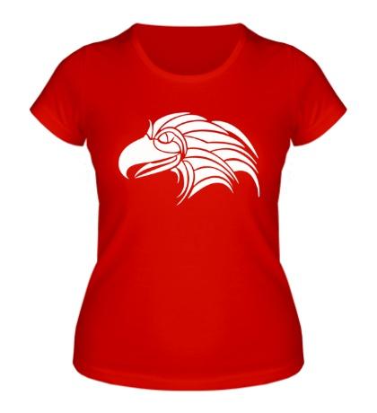 Женская футболка Тату голова орла