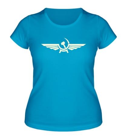 Женская футболка Серп и молот в виде орла свет