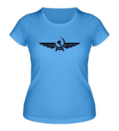 Женская футболка Серп и молот в виде орла