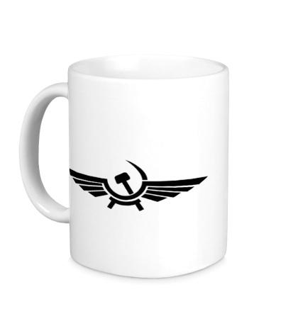 Керамическая кружка Серп и молот в виде орла
