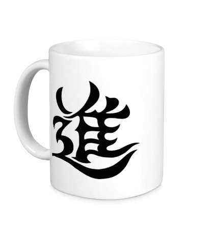 Керамическая кружка Рост: японский иероглиф