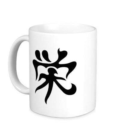Керамическая кружка Процветание: японский иероглиф