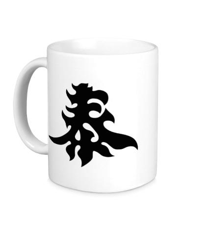 Керамическая кружка Богатство: японский иероглиф