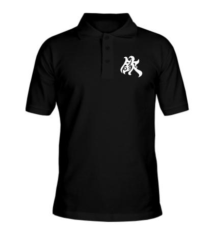 Рубашка поло Уважение: японский иероглиф