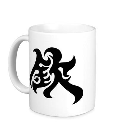 Керамическая кружка Уважение: японский иероглиф