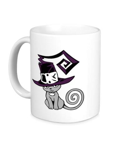 Керамическая кружка Кошка, ведьмочка