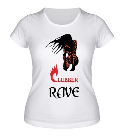 Женская футболка Clubber Rave