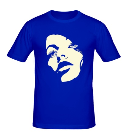 Мужская футболка Лицо девушки, свет