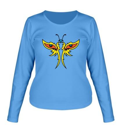 Женский лонгслив Глазастая бабочка