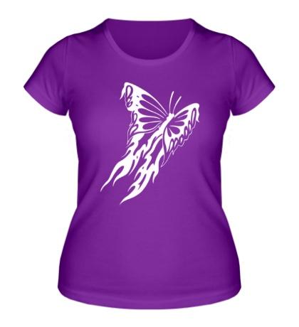 Женская футболка Мотылек